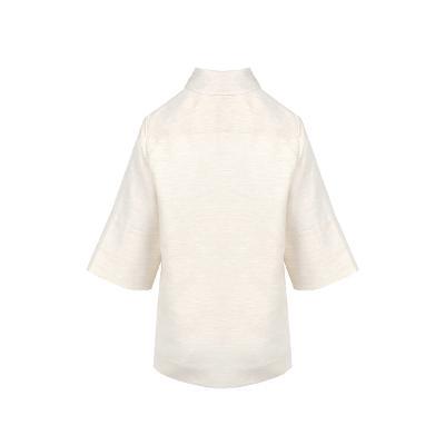 wide sleeve straight polo shirt